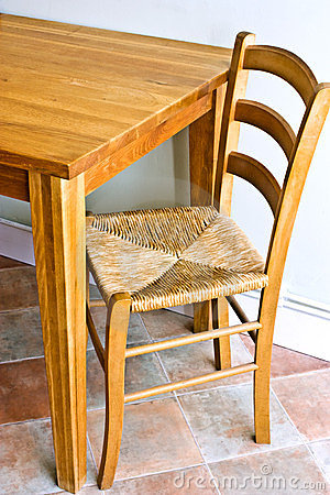 Free Wooden Table And Chair Royalty Free Stock Photo - 24093785