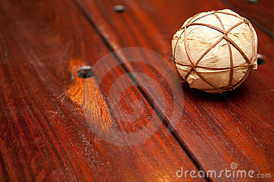 Wooden Table and ball