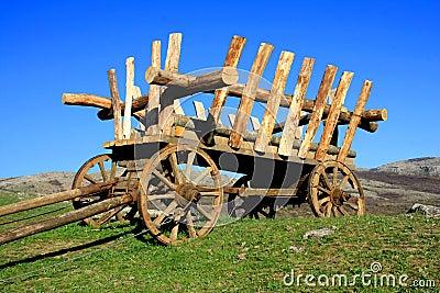 Wooden telega