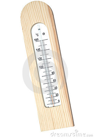 Wooden thermometer with Celsius scale