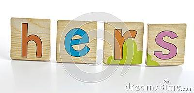 Wooden tiles - spelling HERS