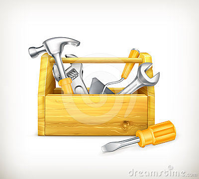 Free Wooden Toolbox Stock Image - 24467201