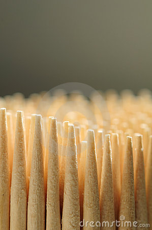 Wooden Toothpicks Close-up