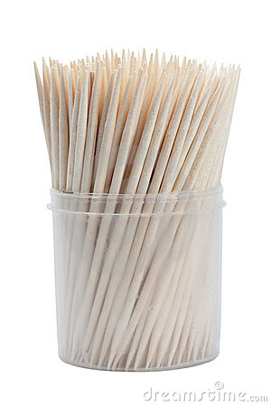 Free Wooden Toothpicks Isolated Royalty Free Stock Image - 15127996