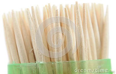 Wooden Toothpicks in Plastic Case