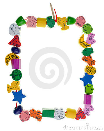 Free Wooden Toy Bead Frame Royalty Free Stock Image - 8617936