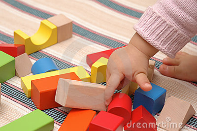 Wooden toy blocks
