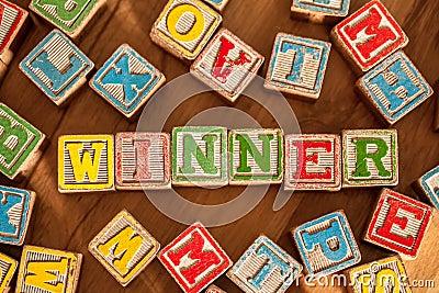 Wooden Toy Blocks Spell Winner