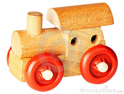 Wooden toy steam-engine