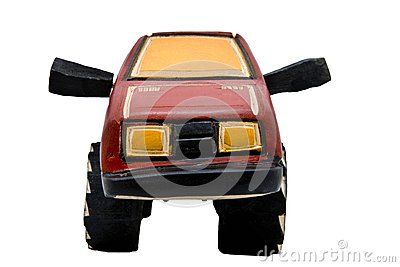 Wooden toy SUV