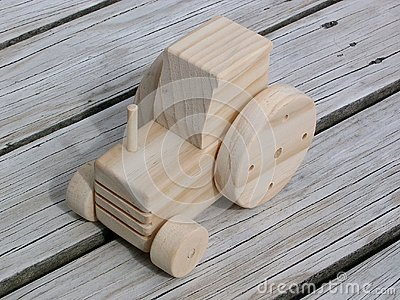 Wooden Toy Tractor Royalty Free Stock Photography - Image: 5944887
