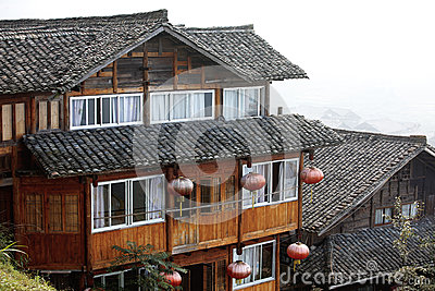 Wooden tradition Miao type Longji mt house