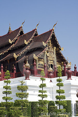 Wooden Traditional architecture in Chiang Mai