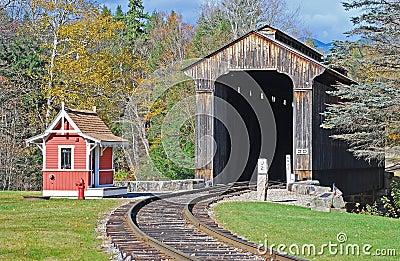 Wooden train tunnel