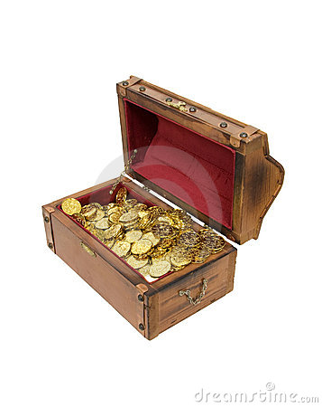 Free Wooden Treasure Chest With Gold Royalty Free Stock Images - 11194029
