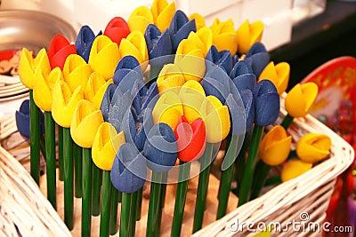 Wooden tulip souvenir, Amsterdam