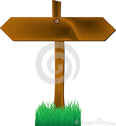 Wooden two-sides arrow sign