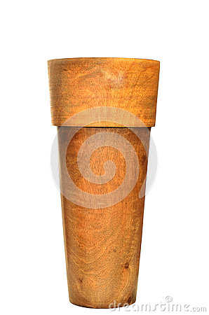 Wooden vase designed in modern style
