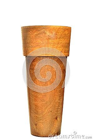 Wooden vase designed in modern style