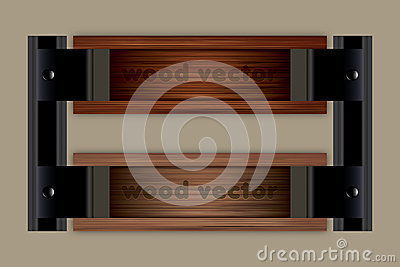 Wooden Vector Tiltle Background