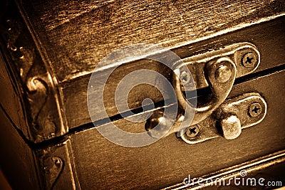 Wooden vintage chest