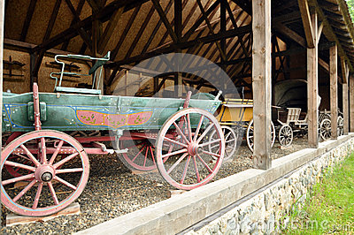 Wooden wagon Editorial Stock Photo