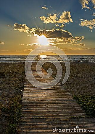 Free Wooden Walkway Stock Photo - 53621280