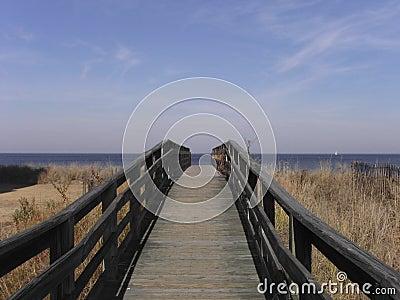 Wooden Walkway to Beach