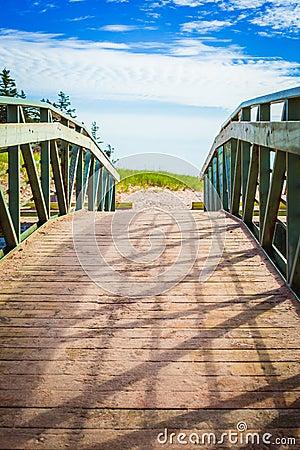 Free Wooden Walkway To Beach Stock Image - 89152961