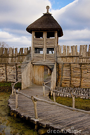 Free Wooden Wall And Tower Stock Images - 12348314