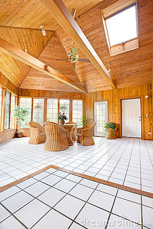 Free Wooden Wall Sun Room Interior Royalty Free Stock Photos - 21819778