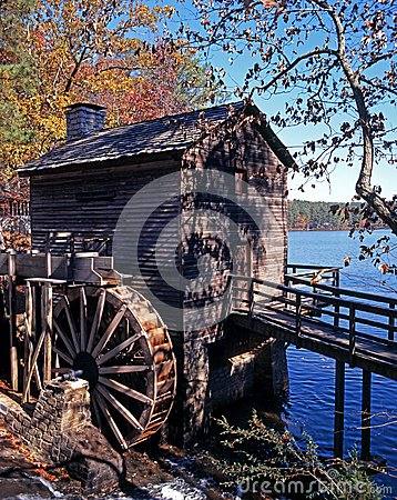 Free Wooden Waterwheel, Atlanta, USA. Royalty Free Stock Image - 31586266