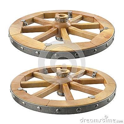 Free Wooden Wheel Stock Photo - 45506470