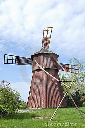 how to build a wooden windmill