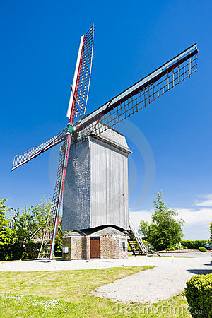 Wooden windmill, France