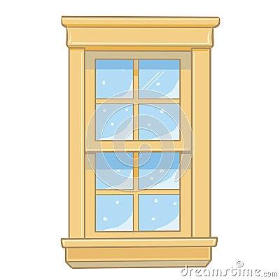 Wooden window isolated illustration
