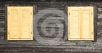 Wooden windows and shutters