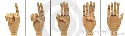 Woodenhand collage: to count