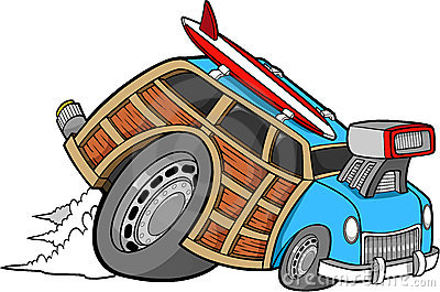 Woodie Car Vector