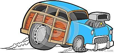 Woodie Car Vector