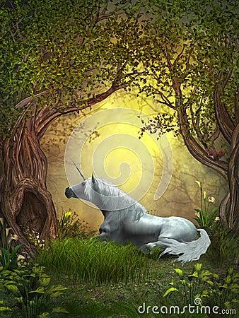 Free Woodland Unicorn Royalty Free Stock Photo - 28469815