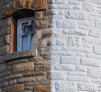 Free Woodman Point Lighthouse: Window Detail Stock Photo - 62279530