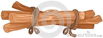 Woodpile of logs