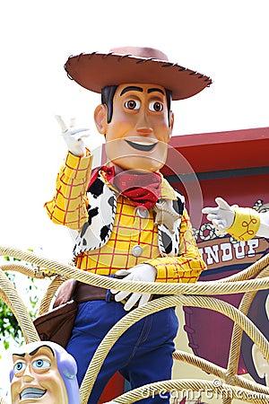 Woody in Hong Kong Disneyland Editorial Image