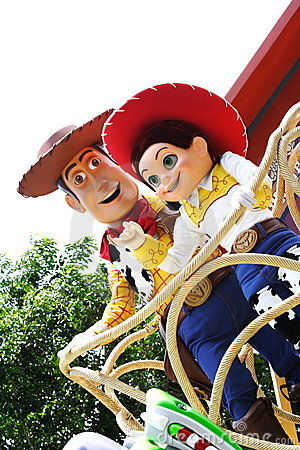Woody and Jessie in Hong Kong Disneyland Editorial Stock Image