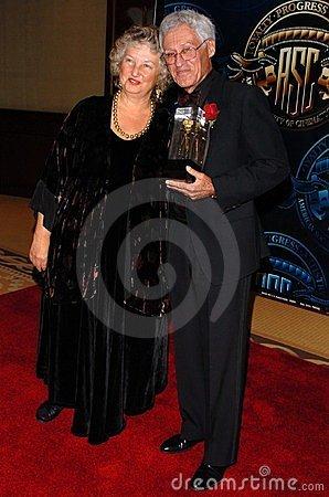 Woody Omens and friend at the American Society of Cinematographers 20th Annual Outstanding Achievement Awards. Hyatt Regency Centu Editorial Photography