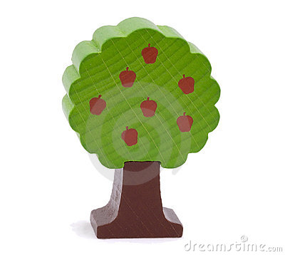 Free Woody Toy Apple Tree Royalty Free Stock Photos - 5804798