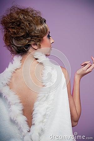 Wool on purple