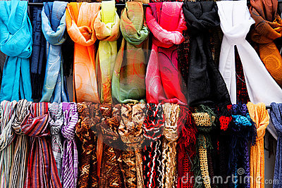 Wool and Silk scarfs on sale