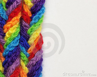 Wool yarns of different colors
